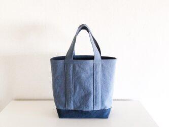 TOTE BAG -bicolor- (L) /  bluegray × smokyblueの画像