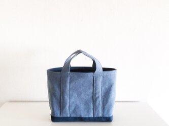 TOTE BAG -bicolor- (M) /  bluegray × smokyblueの画像