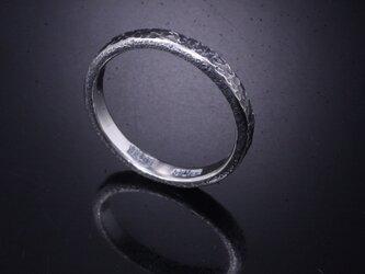 【刻印無料】 指輪 メンズ レディース :籠目 鎚目 シルバー リング 3mm幅 4~27号 槌目 シンプル ペアリングの画像