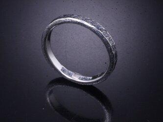 【刻印無料】 指輪 メンズ レディース :渦 鎚目 シルバー リング 3mm幅 4~27号 槌目 シンプル ペアリングの画像