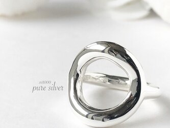 送料無料✴︎ずっしり♡まんまるリング 純銀 sv1000 purecubicの画像