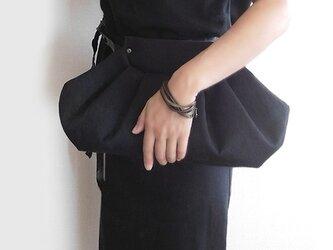 【受注制作】Black Denim Clutch Bagの画像