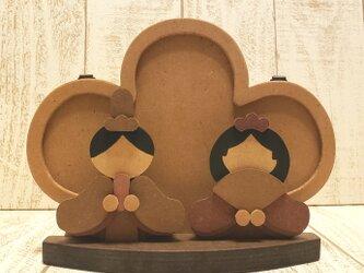ひな祭り☆木製の雛人形☆おひなさま☆変わり雛の画像