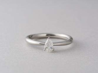 【オーダー】Erice ペアシェイプダイヤモンドリングの画像