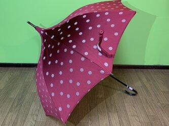 晴雨兼用ショートタイプのパゴダ日傘 de 着物 ドットの画像