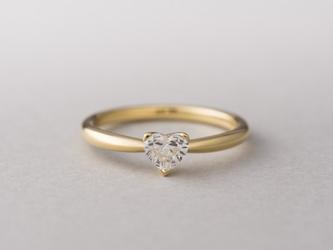 【オーダー】Erice ハートシェイプダイヤモンドリングの画像