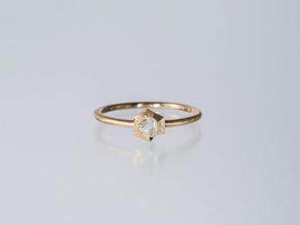 【オーダー】Gazzara ダイヤモンド原石リング / K18YGの画像