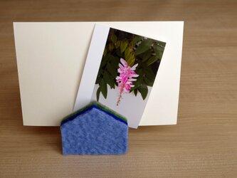 カードスタンド HOUSE ブルーの画像