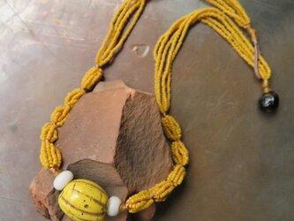 アンティーク 美味 蜜柑玉 黄 ネックレス  百世 momotose(東)の画像