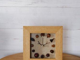 森の時計 掛け時計 置き時計 広葉樹の画像
