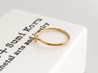 K24 Pure Gold Foop Earrings◇純金フープピアス◇片耳の画像