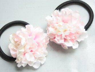 桜の花の髪飾りヘアゴム★2コセットの画像