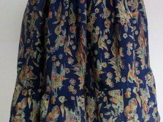 4709 小紋の着物で作ったミニスカート #送料無料の画像