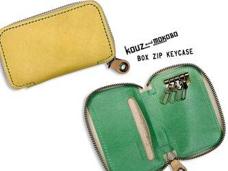 ▲BOX フレッシュ!レモンとライム「ボックスジップ キーケース」カード収納も便利(BZK-YGW-G)の画像