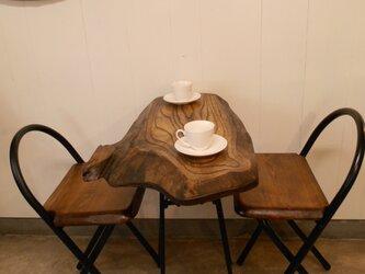 けやきカフェテーブル・イス(2)12-02-2の画像