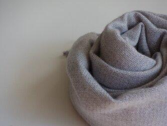 手織りカシミアストール・・朝もやⅱの画像