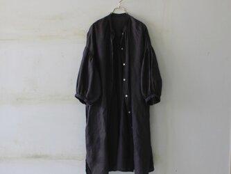 【春NEW】ドロップショルダー ロングシャツ*french linen100% の画像
