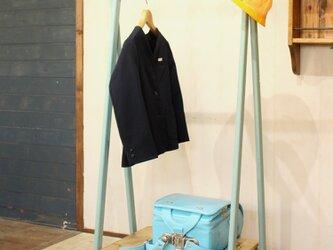 ハンガーラック blue キッズサイズ 子供用の画像