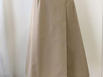 《受注製作》ラップ風プリーツスカート コットンツィルの画像