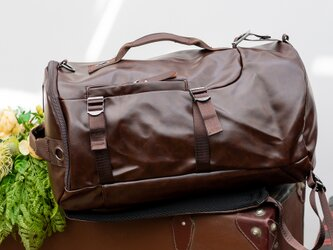 トートバッグ メンズ 通学通勤 鞄 A4  シンプル斜め掛けバッグ レザー  ショルダーバグ レジャーバッグ ブリーフケースの画像
