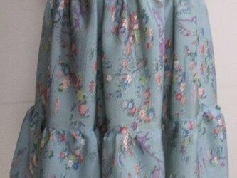4714 花柄の着物で作ったミニスカート #送料無料の画像