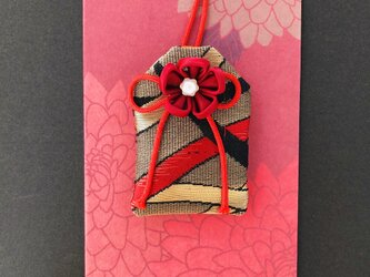 (葉波)元巫女の花のお守り袋の画像