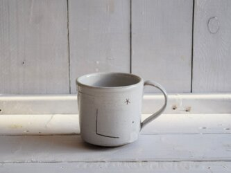 白化粧ラクガキ文マグカップの画像