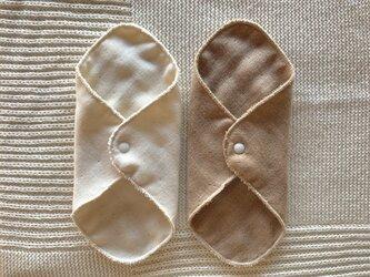 Organic Cotton 6重ガーゼ布ナプキン2枚セット(デイリーライナー)の画像