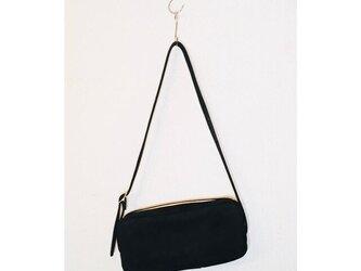 スウェード 牛革 ブラック ツールバッグ ショルダーバッグの画像