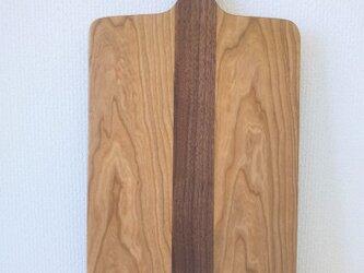 Cutting Board LL - チェリー x ブラックウォルナットの画像