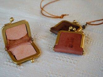 真鍮使いの口金リングケース/ピンク×ピンクの画像