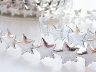 (1m) 銀色の星のテープ イギリス製の画像