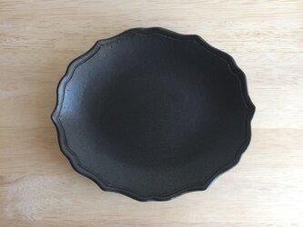 稜花オーバルプレート(ブラック)の画像