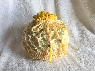 レース編み巾着 ~レモン~の画像