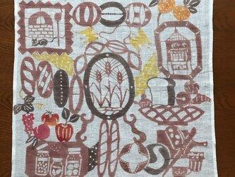 柿渋・植物染料染めフリークロス   パン万歳の画像