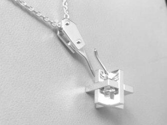 Puzzle Cube Pendant <10actions> Silver パズルキューブペンダントの画像