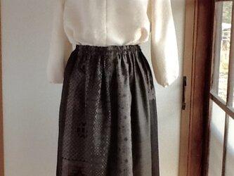 大島紬いろいろ ギャザースカートの画像