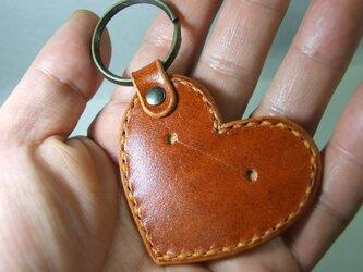 500円玉ハートのキーホルダー ルガト橙の画像