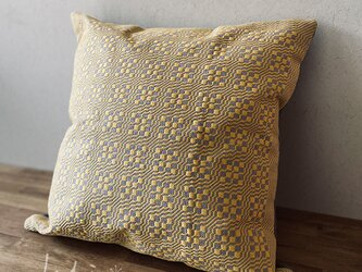 cushion cover[手織りクッションカバー] イエローの画像