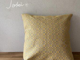 [再販]cushion cover[手織りクッションカバー] イエローの画像