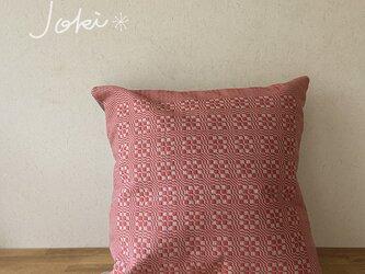 [再販]cushion cover[手織りクッションカバー] レッドの画像