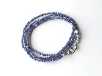 さざ波の色のネックレス【受注制作】 / 約70cm, ソーダライト, 天然石の画像