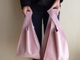 ちょっと贅沢な毎日のサブバッグピッグスエード (M)ライトピンクの画像