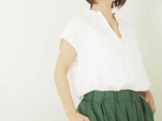 リネンフレンチスキッパーシャツの画像