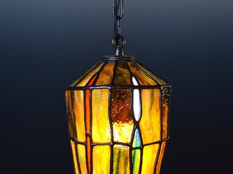 あめ色ガラスのランプシェード Aの画像
