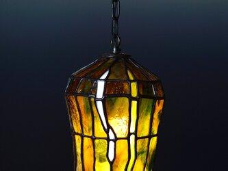 あめ色ガラスのランプシェード Bの画像