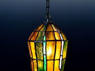 あめ色ガラスのランプシェード Cの画像