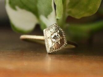 Fragment Diamond ring K18YG*K10WG FMR-01BWGの画像