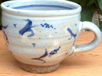 染付スープカフェオレ.5カップの画像