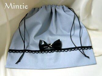 【SALE】バッグインナー(巾着)グレーの画像